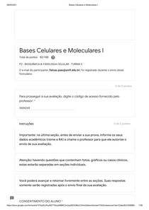 Bases Celulares e Moleculares I