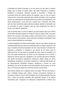 Resumo do Manifesto Comunista - Sociologia
