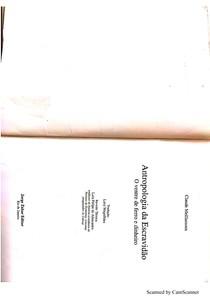 Antropologia da Escravidão - Meillassoux