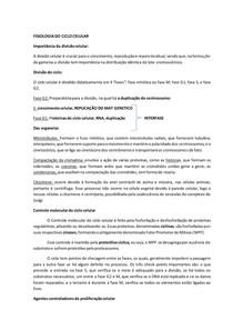 FISIOLOGIA DO CICLO CELULAR