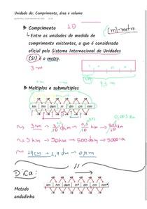 [NOTA DE AULA] Unidades de comprimento, área e volume