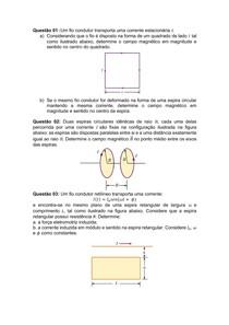 Indução eletromagnética - Lista resolvida - Renato da Silva Viana