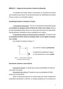 1 - Regime de Escoamento e Número de Reynolds - UNIP Online