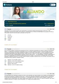 4° AVALIANDO O APRENDIZADO - ESTRUTURAS DE AÇO