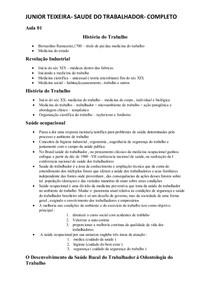 SAUDE DO TRABALHADOR  COMPLETO