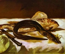 Edouard Manet - Still-Life-with-Eel-and-Red-Muller