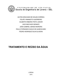 TRATAMENTO E REÚSO DA ÁGUA - Parte escrita