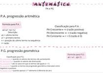 PA PG matemática