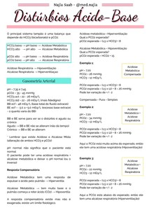 Distúrbios ácidos básicos