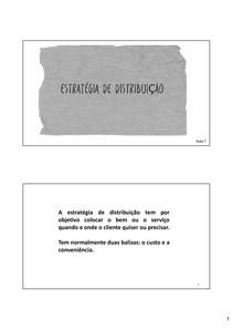 aula 7 - Marketing Estratégico - Distribuição