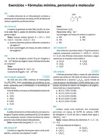 Fórmulas mínima - percentual