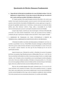 QUESTIONÁRIO | Direitos Humanos Fundamentais