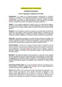 GLOSSÁRIO DE IMUNOLOGIA