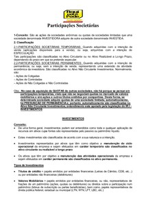 CONTABILIDADE SOCIETÁRIA PARTICIPAÇÕES SOCIETÁRIA - Estrutura