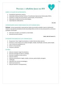 Processos e estrutura física em BLH E LACTÁRIOS @nutricomgab