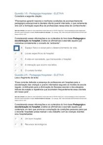 APOL PEDAGOGIA HOSPITALAR NOTA 100