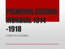 FASES DA PRIMEIRA GUERRA MUNDIAL (2)