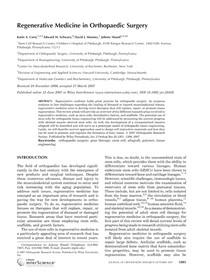 Corsi   Regenerative medicine in orthopaedic surgery   2007