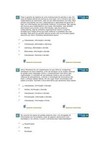 COMPETÊNCIAS GERENCIAIS - AVALIANDO APRENDIZADO - AULA 10 -  2º SEMESTRE 2015