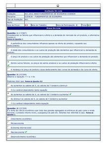 Fundamentos de Economia - (39) - AV1 - 2012.3