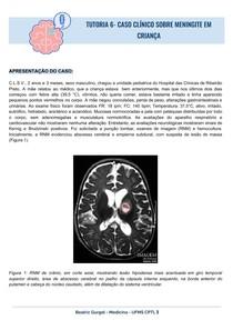 TUTORIA- DISCUSSAO DE CASO CLÍNICO SOBRE MENINGITE EM CRIANÇA