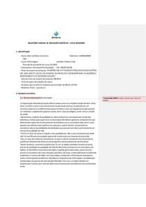 Modelo para Relatório Parcial - 2020