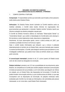 RESUMÃO DE DIREITOS HUMANOS- COLETÂNEA DAS AULAS DO 9 PERÍODO