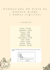 Macaco-prego (Cebus nigritus) - Dieta