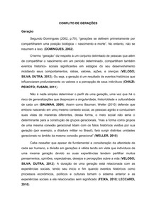 RESUMO EXPANDIDO - CONFLITO DE GERAÇÕES