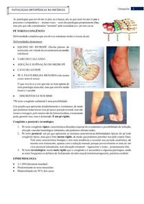 Patologias Ortopédicas na Infância
