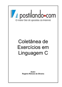 Coletânea de exercicios resolvidos em liguagem C