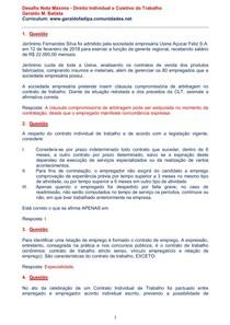 AVA - Desafio Nota Máxima - Direito Individual e Coletivo do Trabalho