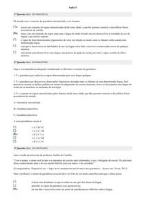Linguística Aplicada ao Ensino da Língua Portuguesa - Avaliando o Aprendizado
