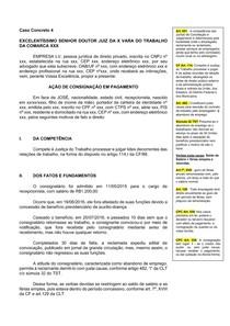Caso Concreto 4 - Ação de Consignação em Pagamento