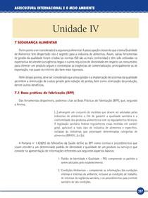 Agricultura Internacional e o Meio Ambiente - Livro-Texto - Unidade IV