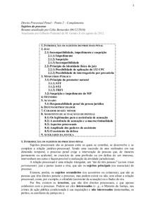 Direito Processual Penal – Ponto 2.3 – Complemento