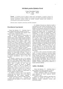 Atividade pratica Quimica Geral