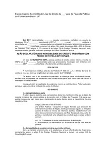 Ação Declaratória de Inexigibilidade de Crédito Tributário com Tutela de Urgência