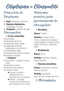 Citoplasma e Citoesqueleto