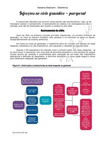 Infecções no ciclo gravídico - puerperal