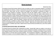 Sociologia de Émile Durkheim_síntese