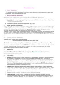 Resumo - Direito Administrativo I