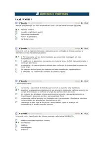 ÓRTESES E PRÓTESES AVALIANDO 1, 2, 3 e 4