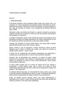 CONTEÚDO- TEORIA GERAL DA POSSE (1)