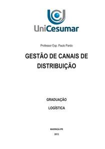 GESTÃO DE CANAIS DE DISTRIBUIÇÃO - Logística - 12 1bfede671c8