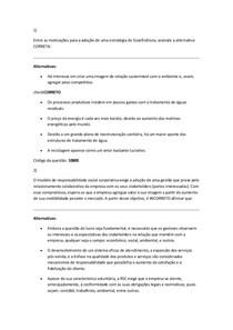 avaliaçoes gestão da responsabilidade social e ambiental