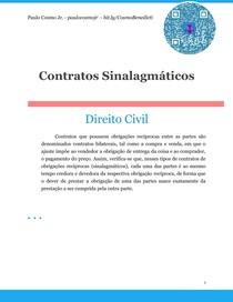 Contratos Sinalagmáticos