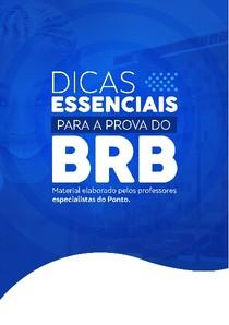 Dicas Essenciais BRB - Concurso Público - Escriturário - Ponto