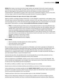 AULA 1-ÉTICA E BIOÉTICA CONCEITOS