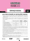 Enade 2013 httpacheprovas.comenadeprovas-do-enade-servico-social.htm